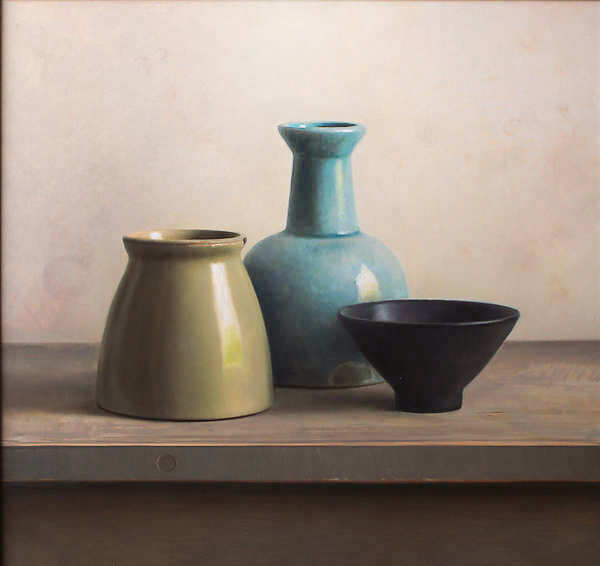 Painting: Still life with black bowl