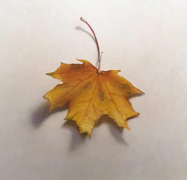 Painting: Autumn leaf.