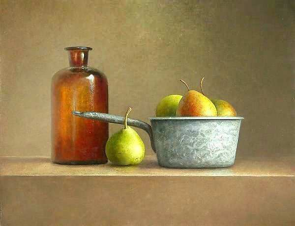 Painting: Still life with blue pot
