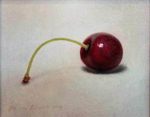 Painting: Cherry still life