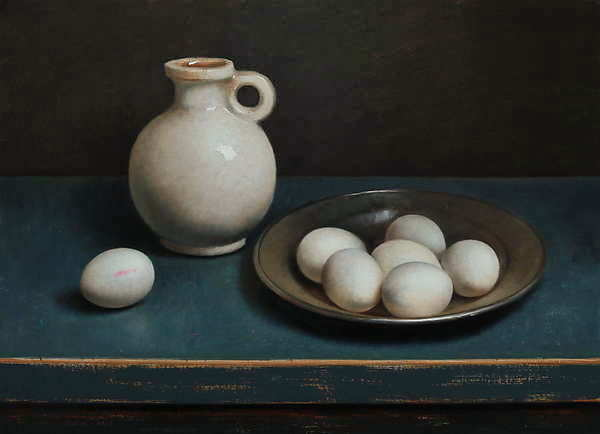 Painting: Egg still-life
