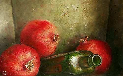 Painting: Tromp l oeil still life