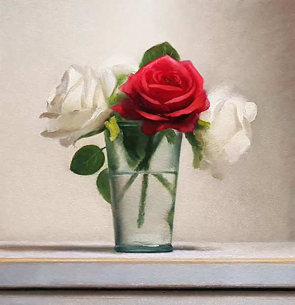 Painting: Still life with roses