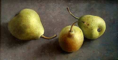 Painting: Still life with 3 pears