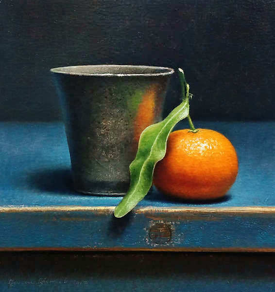 Painting: Still life with pewter cup