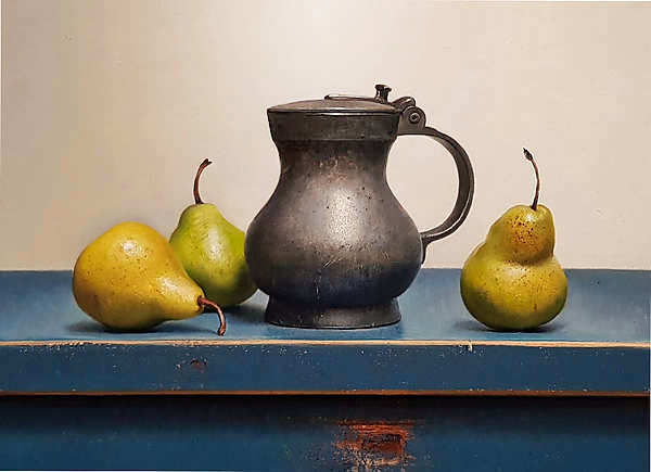 Painting: Still life with pewter jug