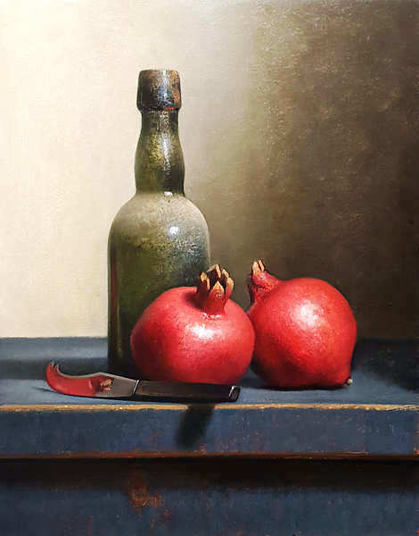 Painting: Still life with pomegranates
