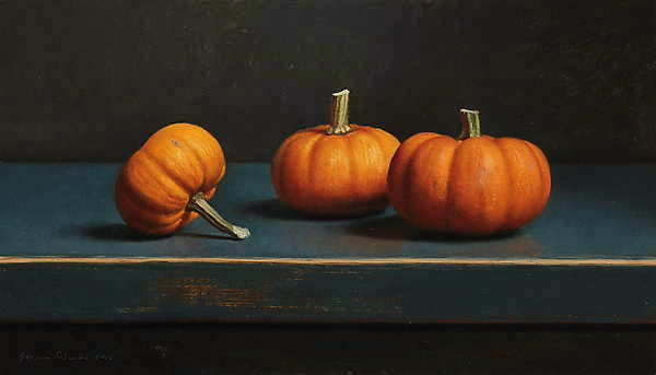 Painting: Pumpkin still-life