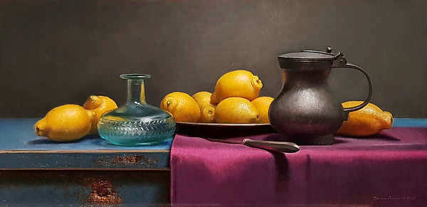 Painting: Lemon still life