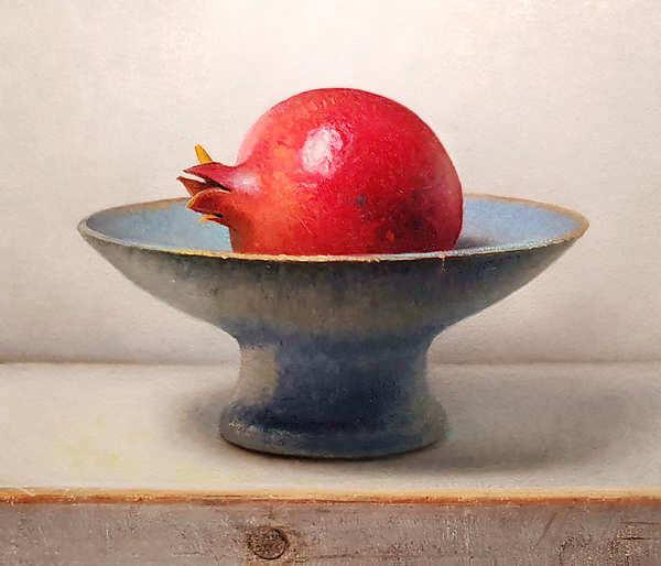 Painting: Pomegranate still life