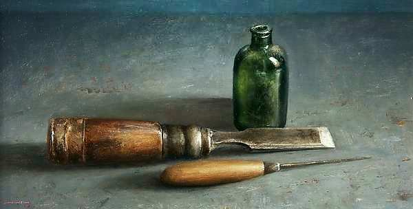 Painting: Still life with Chisel