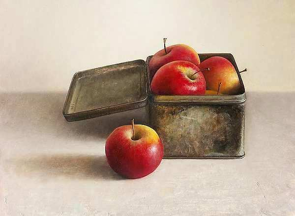 Painting: Still life with red apples