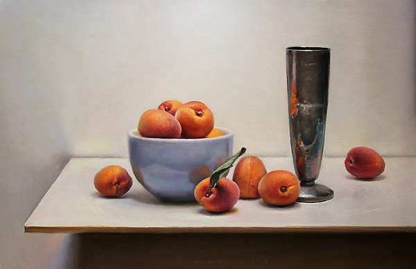 Painting: Apricot-still life