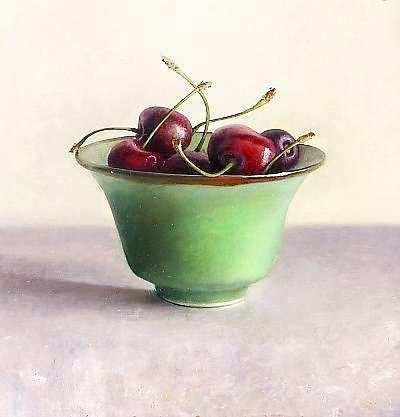 Painting: Still life cherries