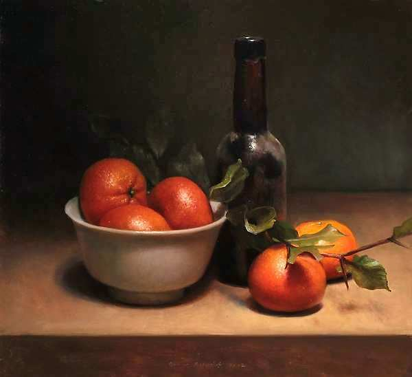 Painting: Clementine still life