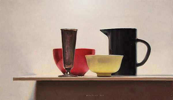 Painting: Still life with black jug