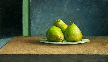 Still life with pears, 34x59cm, 2006. SOLD