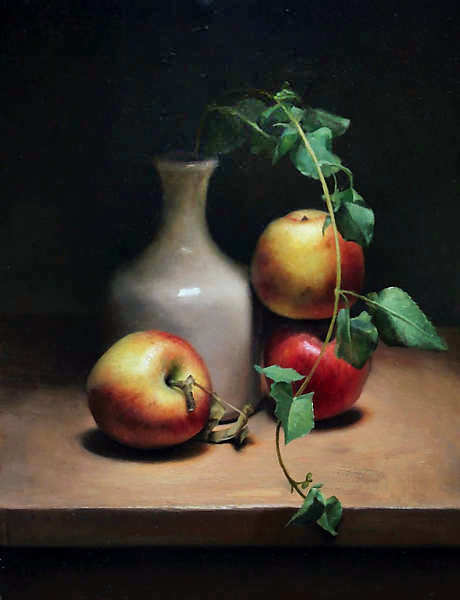 Painting: Apple still life