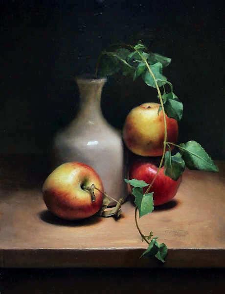 Painting: Apple still life