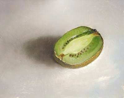 Painting: Still life with kiwi