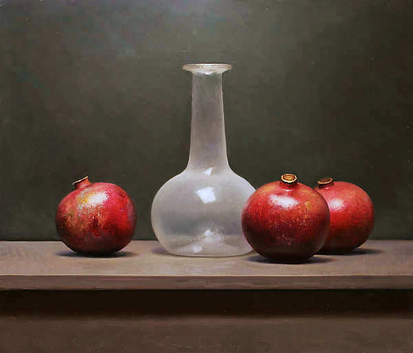 Painting: Still life with pommegranates