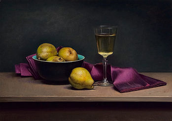 Still life with purple napkin, 40x57cm, 2013.