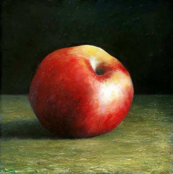 Painting: Red apple