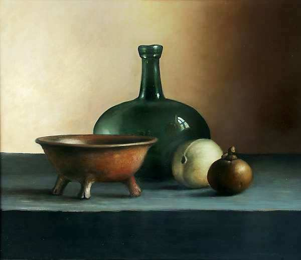 Painting: Still life with pottery