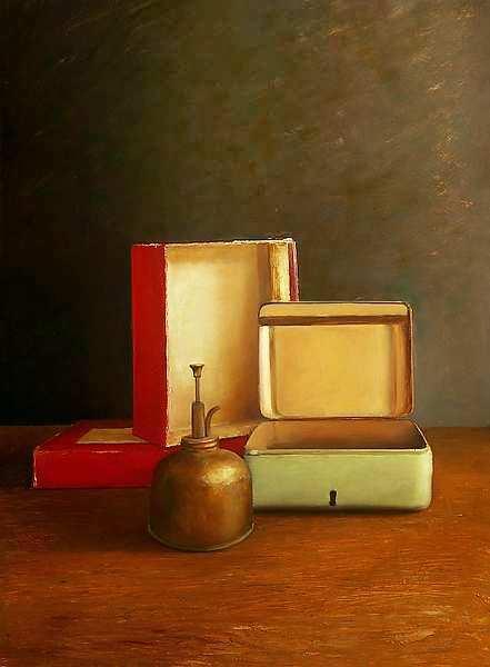 Painting: Still life with till