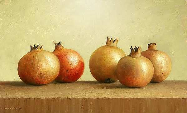 Painting: Still life with pomegrenate