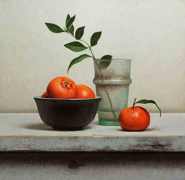 Painting: Still life with tangerines