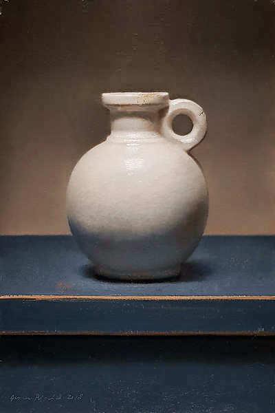 Painting: Still life white jug