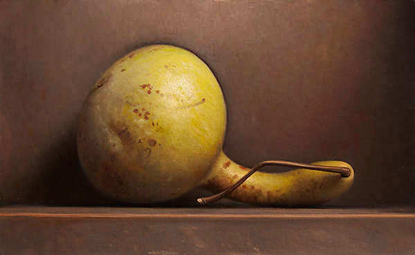 Painting: Still life with yellow gourd