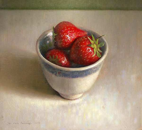 Painting: Still life sith strawberries