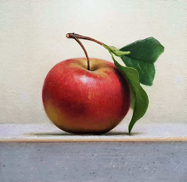 Painting: Still life with apple II