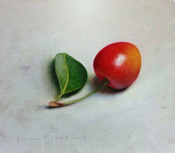 Painting: Cherry with leaf
