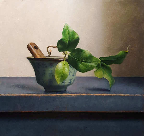 Painting: Still life with chinese bowl
