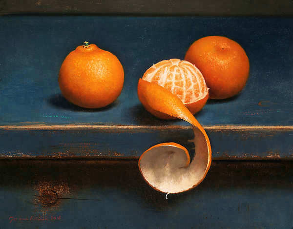 Painting: Still life with three clementines