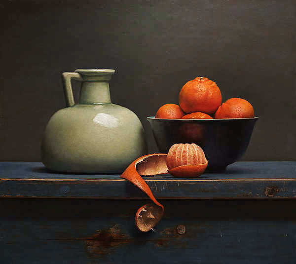 Painting: Still life with clementines