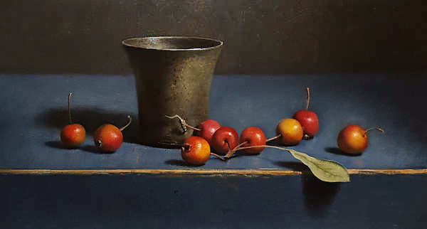 Painting: Still life with crabapples.