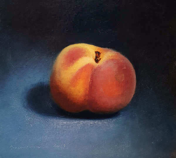 Painting: Still life with peach.