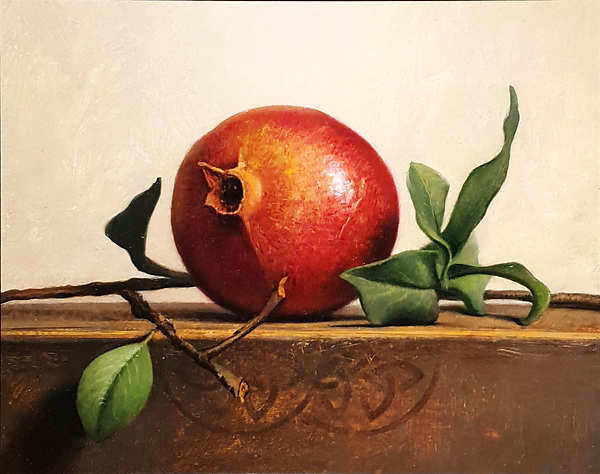 Painting: Still life with pomegranate.