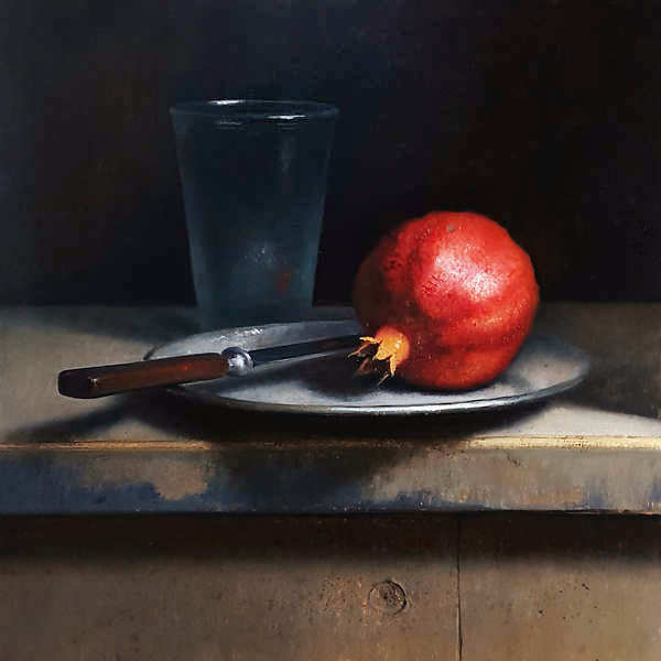 Painting: Still life with pomegranate