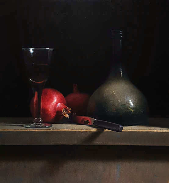 Painting: Still life with pomegranates..