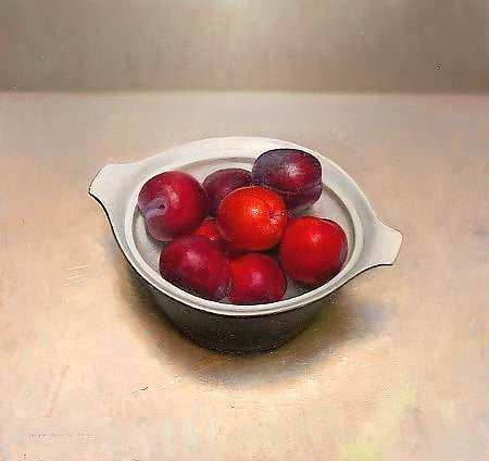 Painting: Still life with plums