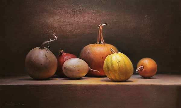Painting: Pumpkin still life