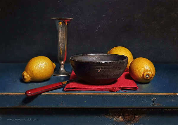 Painting: Still life with lemons