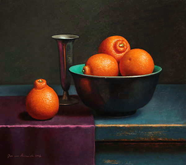 Painting: Still life with minneolas