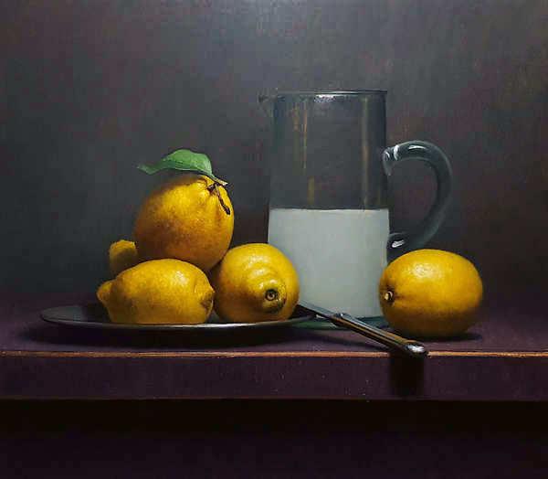 Painting: Still life with lemonade