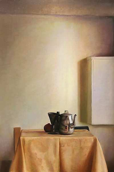 Painting: Still life with sun light